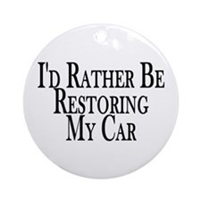 Rather Restore Car Ornament (Round)
