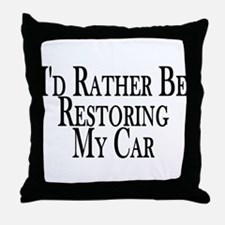 Rather Restore Car Throw Pillow