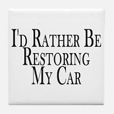 Rather Restore Car Tile Coaster