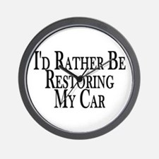 Rather Restore Car Wall Clock
