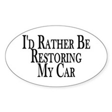 Rather Restore Car Oval Decal