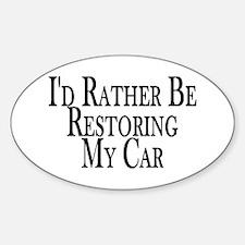Rather Restore Car Oval Sticker (10 pk)