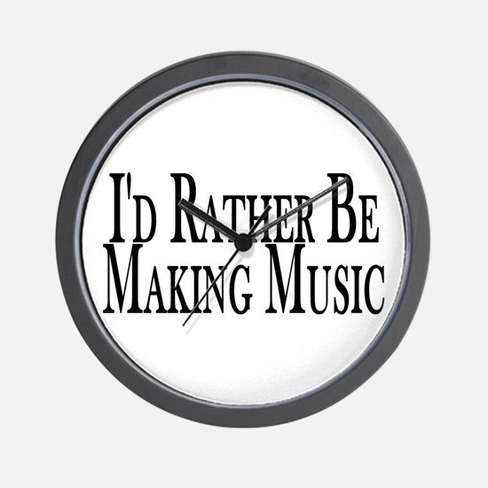 Rather Make Music Wall Clock