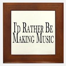 Rather Make Music Framed Tile