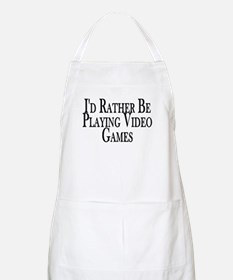 Rather Play Video Games BBQ Apron