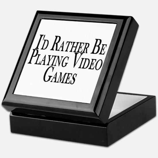 Rather Play Video Games Keepsake Box