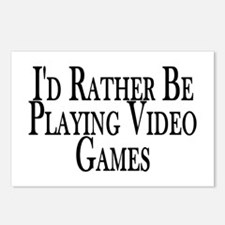 Rather Play Video Games Postcards (Package of 8)
