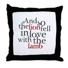 The lion fell love with lamb Throw Pillow