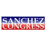 Sanchez for Congress Bumper Sticker