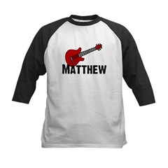 Guitar - Matthew Kids Baseball Jersey