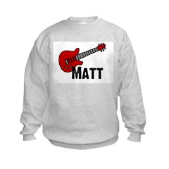 Guitar - Matt Sweatshirt