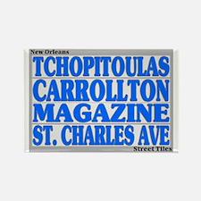 New Orleans Street Tiles Rectangle Magnet