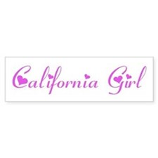 California Girl Bumper Bumper Sticker