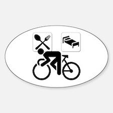 Eat Sleep CYCLE! Oval Decal