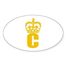 C - character - name Oval Decal