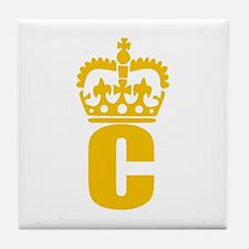 C - character - name Tile Coaster