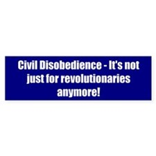 Civil Disobedience - It's not just for revolutiona