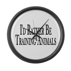 Rather Train Animals Large Wall Clock