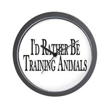 Rather Train Animals Wall Clock