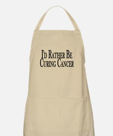 Rather Cure Cancer BBQ Apron