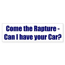 Come the Rapture - Can I have your Car?