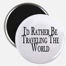 """Rather Travel The World 2.25"""" Magnet (10 pack)"""
