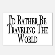 Rather Travel The World Postcards (Package of 8)