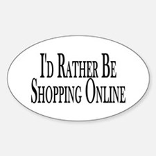 Rather Shop Online Oval Decal