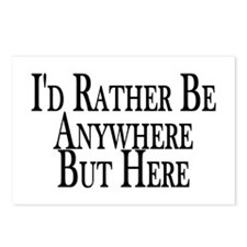 Rather Be Anywhere But Here Postcards (Package of