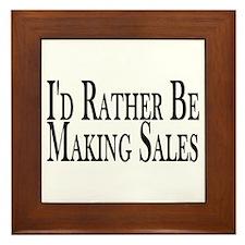 Rather Make Sales Framed Tile