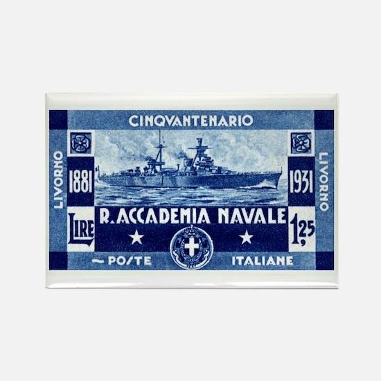 1931 Italian Naval Academy Rectangle Magnet