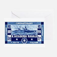 1931 Italian Naval Academy Greeting Card