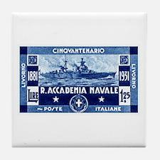 1931 Italian Naval Academy Tile Coaster
