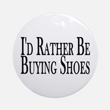 Rather Buy Shoes Ornament (Round)