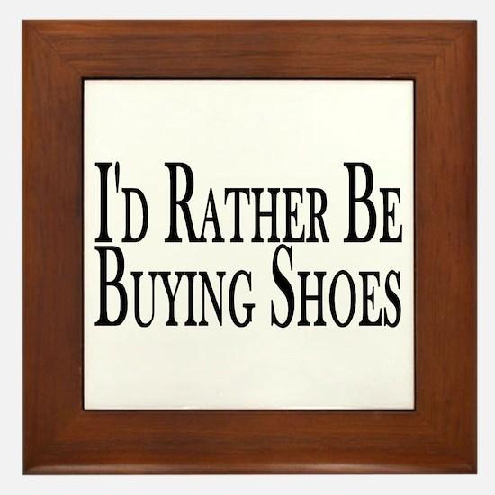 Rather Buy Shoes Framed Tile