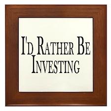 Rather Be Investing Framed Tile