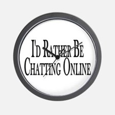 Rather Be Chatting Online Wall Clock
