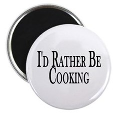 """Rather Be Cooking 2.25"""" Magnet (10 pack)"""