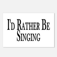 Rather Be Singing Postcards (Package of 8)