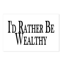 Rather Be Wealthy Postcards (Package of 8)