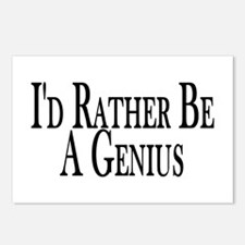 Rather Be A Genius Postcards (Package of 8)