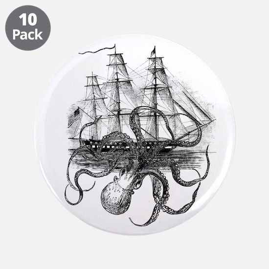 """OctoShip 3.5"""" Button (10 pack)"""