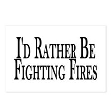 Rather Fight Fires Postcards (Package of 8)