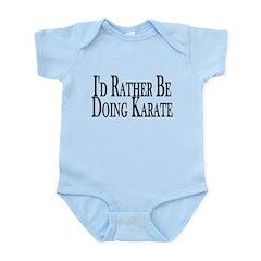 Rather Do Karate Infant Bodysuit