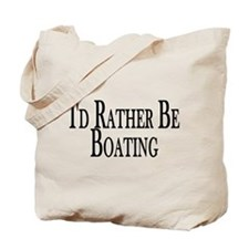 Rather Be Boating Tote Bag
