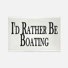 Rather Be Boating Rectangle Magnet