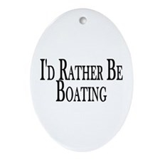 Rather Be Boating Oval Ornament