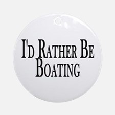 Rather Be Boating Ornament (Round)