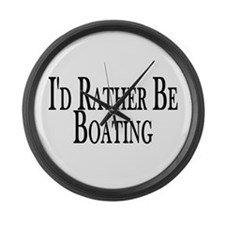 Rather Be Boating Large Wall Clock