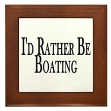 Rather Be Boating Framed Tile